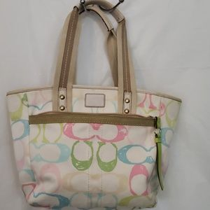 Coach Hamptons Pastel Scribble Bag